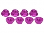 Aluminum Locknut Serrated (8pcs) - Pink